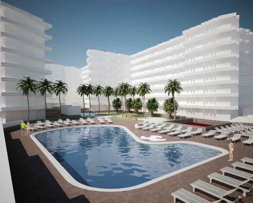 Jaraba arquitectos piscina edificio habitat playa del for Normativa piscinas canarias